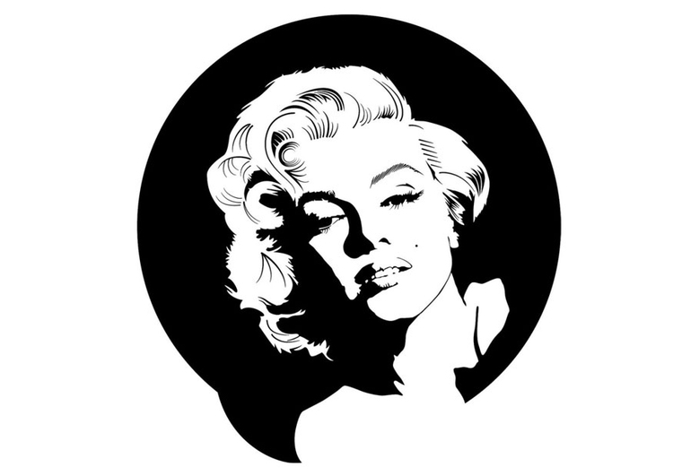 Coloring page Marilyn Monroe