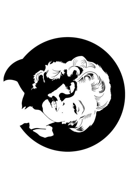 Coloring Page Marilyn Monroe Img 24726 Marilyn Coloring Pages