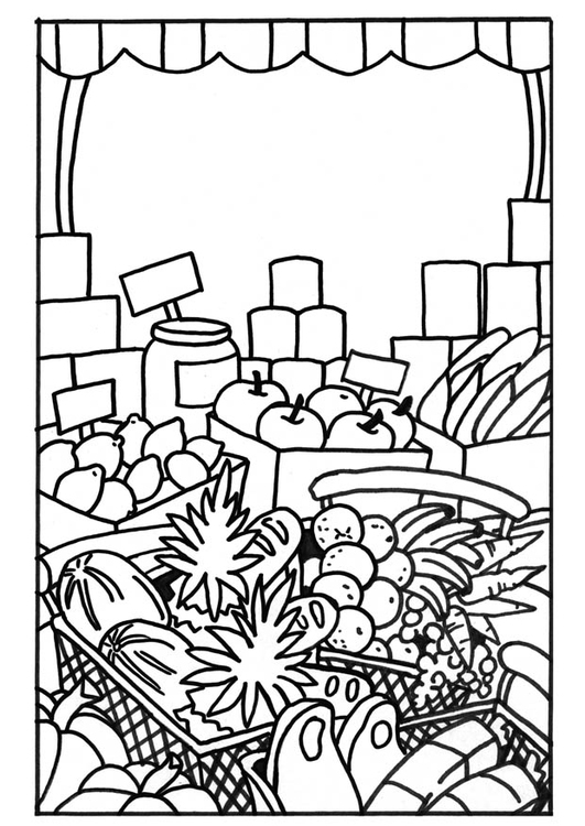 Coloring page Market