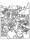 Coloring pages market place