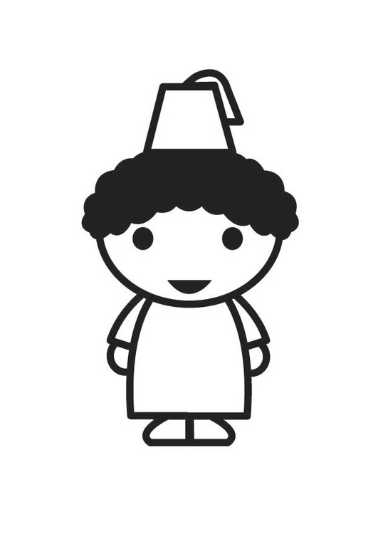 Coloring page Maroccan Child