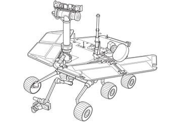 Coloring page Mars Rover