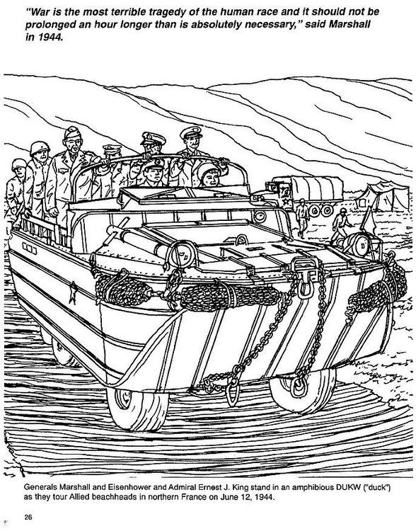 Coloring page Marshall, Eisenhower, King