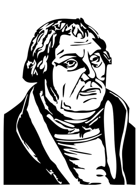 Coloring page Martin Luther