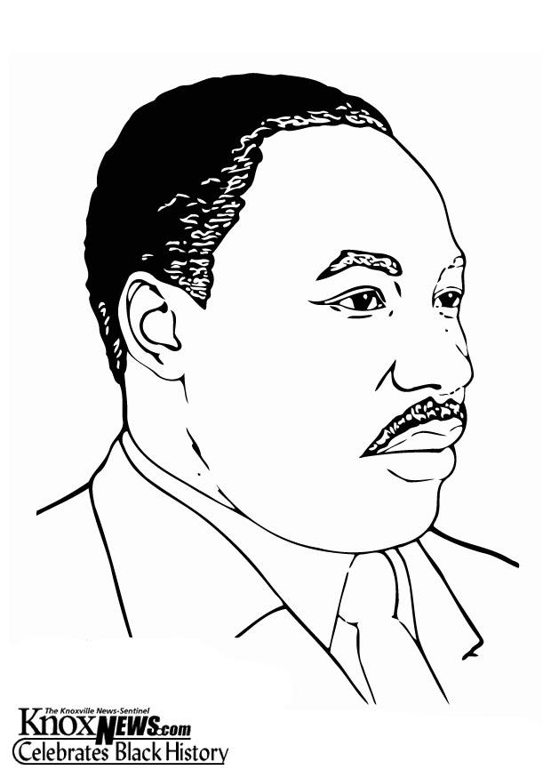 download large image - Martin Luther King Coloring Pages