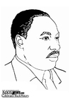 Coloring page Martin Luther King, Jr