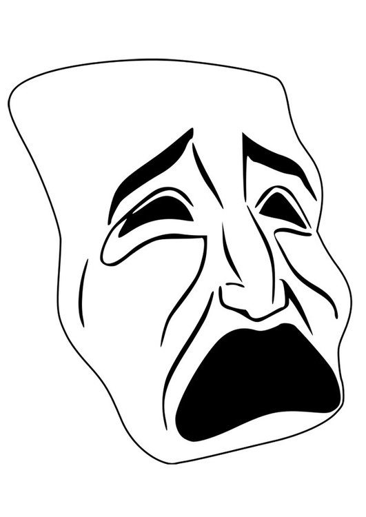 Coloring page mask - cry