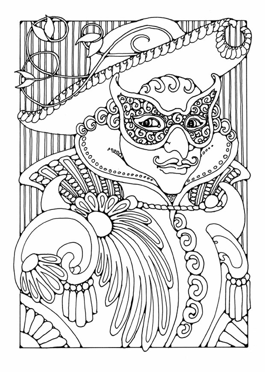 Coloring page masked