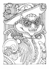 Coloring pages masked