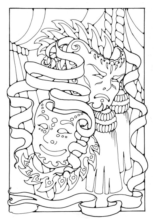Coloring page Masks