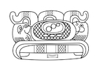 Coloring pages Mayan art