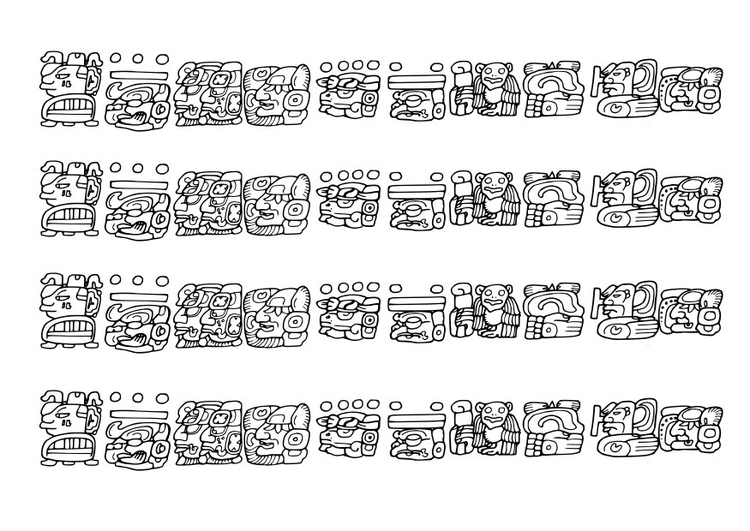 Coloring page Mayan images