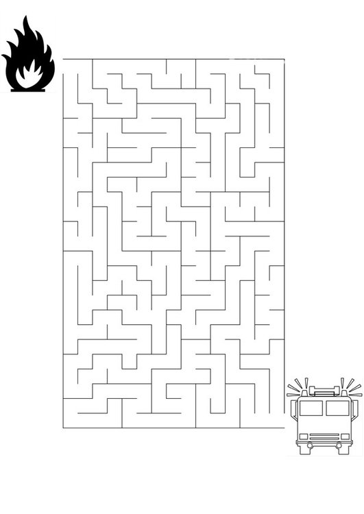 Ladder Kleurplaten Coloring Page Maze Fire Brigade Img 20862