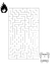 Coloring pages maze fire brigade