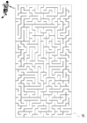Coloring pages maze football
