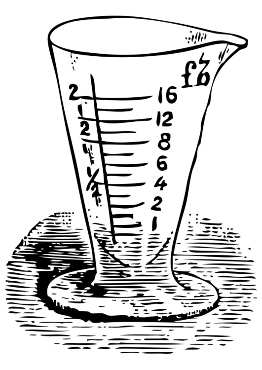 Coloring page measuring cup