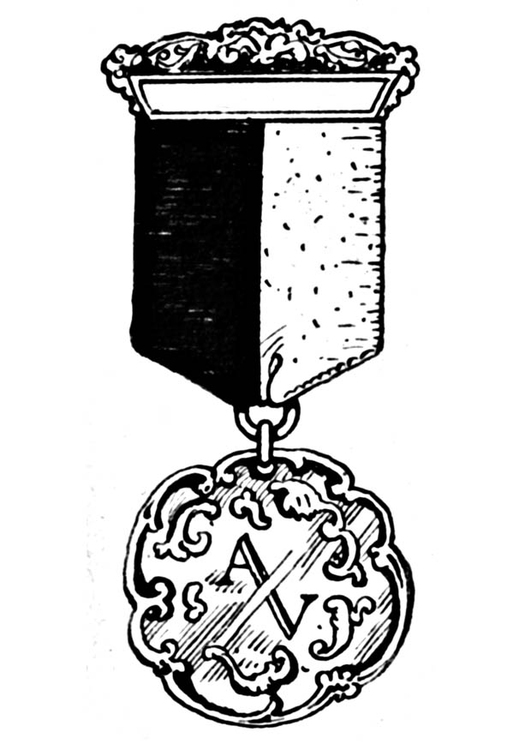 Coloring page medal