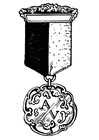 Coloring pages medal