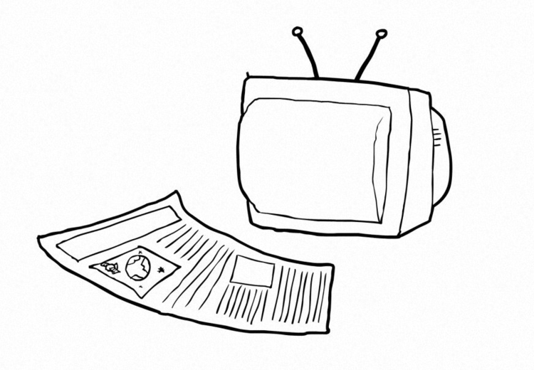 Coloring page Media