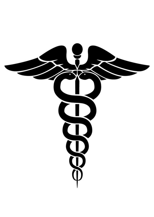 Coloring page medical symbol