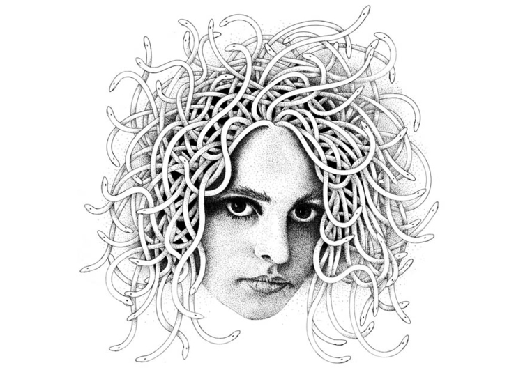 Coloring page medusa