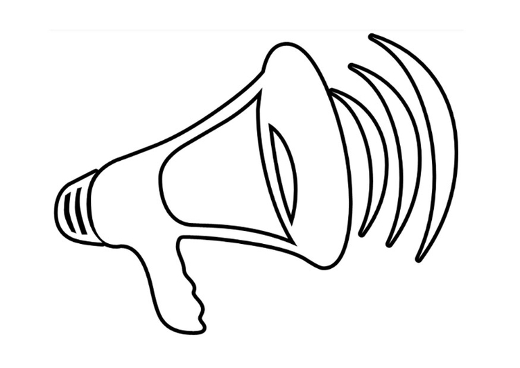 Coloring page megaphone