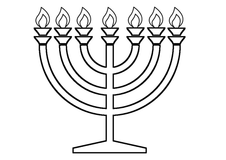 Coloring page menorah