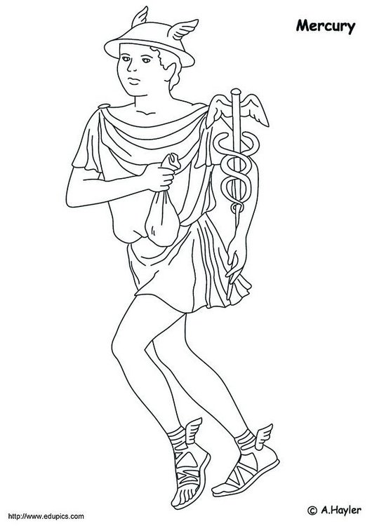 Coloring page Mercury
