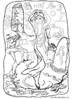 Coloring pages mermaid at home