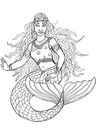 Coloring pages mermaid of Shamrock
