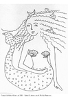 Coloring pages mermaid