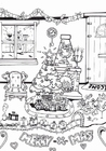 Coloring page Merry Christmas
