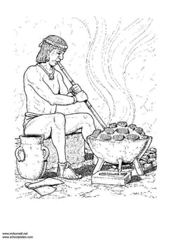 Coloring page metalworker