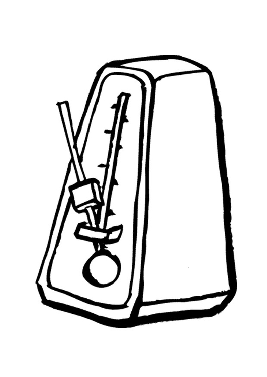 Coloring page metronome