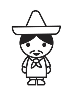 Coloring page Mexican