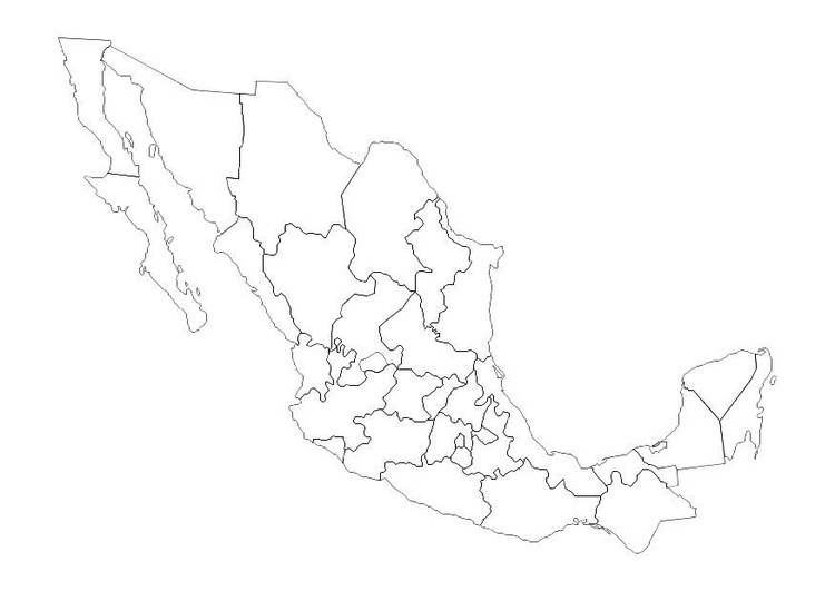 Coloring page mexico