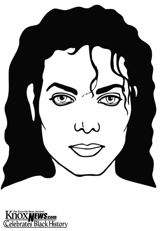 Coloring page Michael Jackson