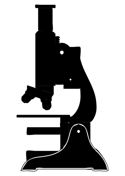 Coloring page microscope