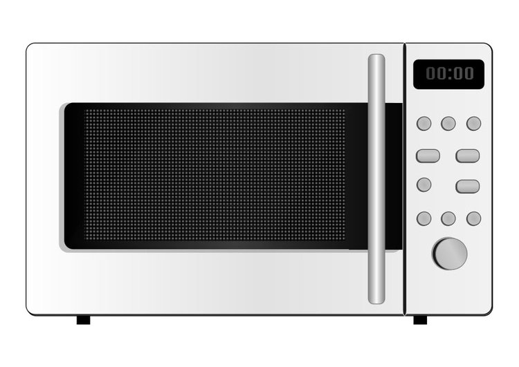 Coloring page microwave oven