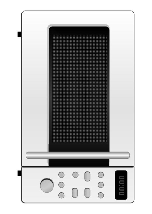 Coloring Page Microwave Oven Free Printable Coloring Pages
