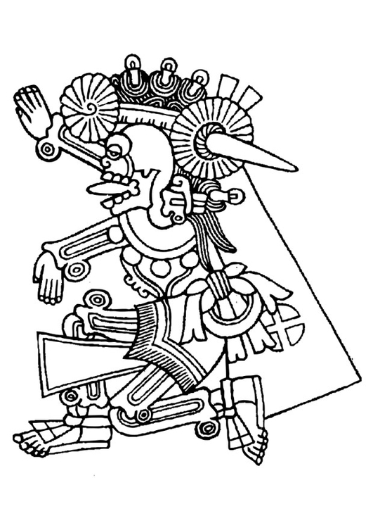 Coloring page mictlantecuhtli img 27160 for Aztec gods coloring pages
