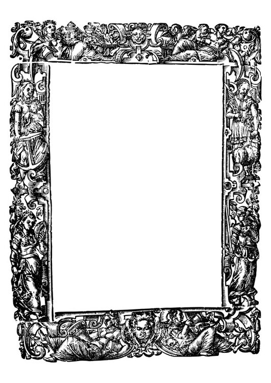Coloring page Middle Ages frame