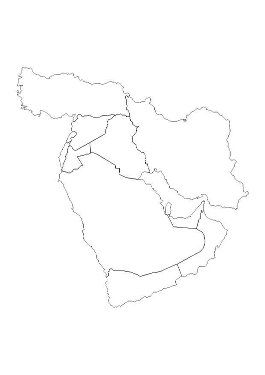 Coloring page middle east