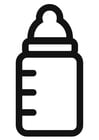 Coloring page milk bottle