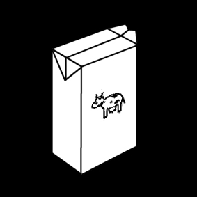 Coloring page milk carton
