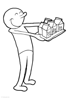 Coloring page Milk delivery