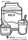 Coloring pages milk