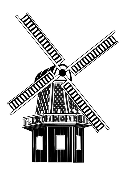 Coloring page mill