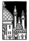 Coloring page minaret