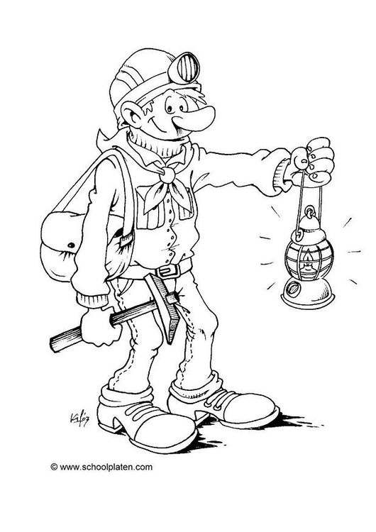 Coloring page miner